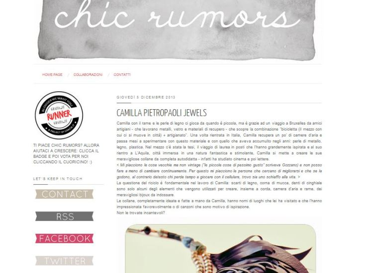 Cattura chic rumors